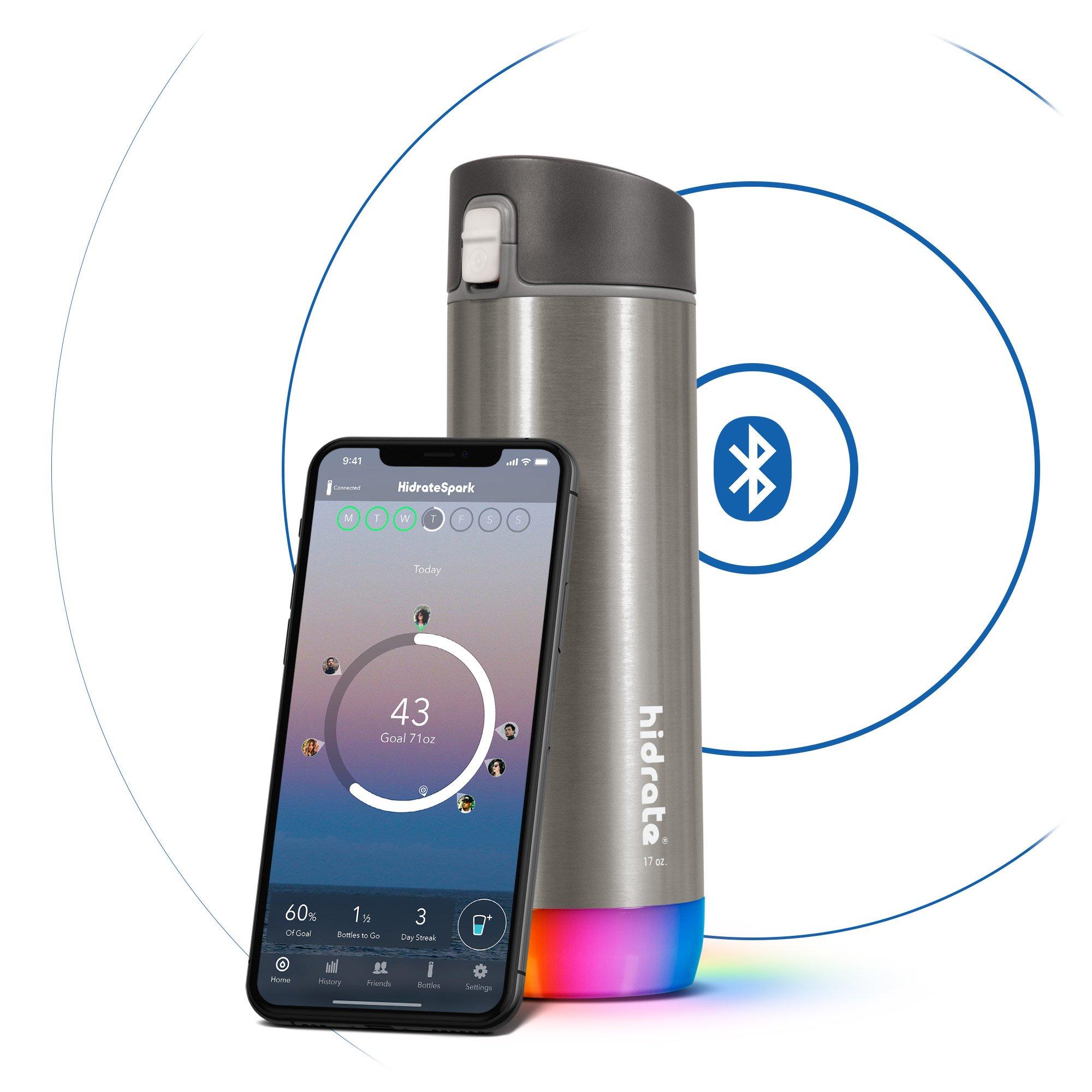 Steel Smart Water Bottle by HidrateSpark