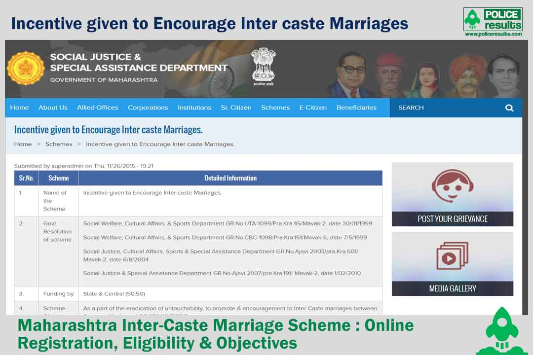Web-Portal for Supporting Inter-Caste Marriages